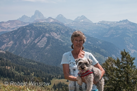 Mariliyn and Duffy with Grand Tetons in the Background 9872