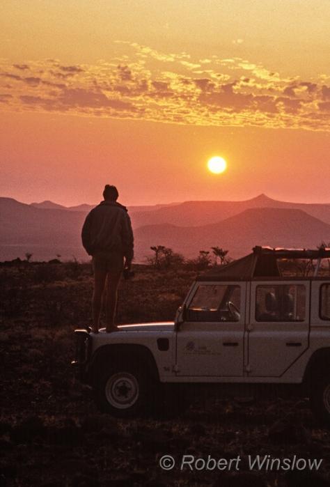 On Safari, Etendeka, Namibia, Africa